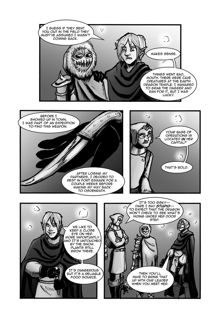 A comic strip. For full detail, see long description (d link)